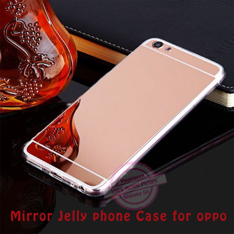 quality design 0bffe 2ed3f mirror jelly phone case for OPPO 9300/a37/r7s/r9/r9s/a59