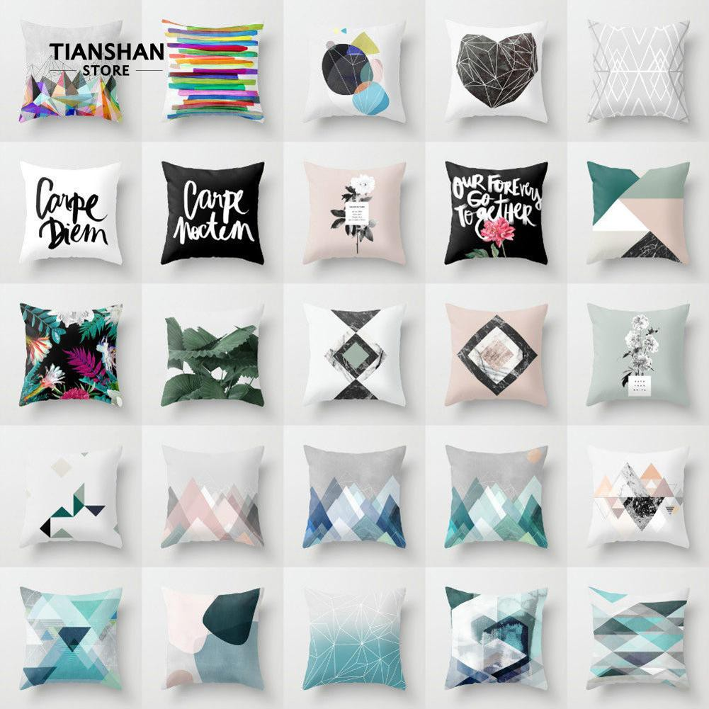 Cod supplier letter flower geometric pattern throw pillow - Hacer cojines para sofa ...