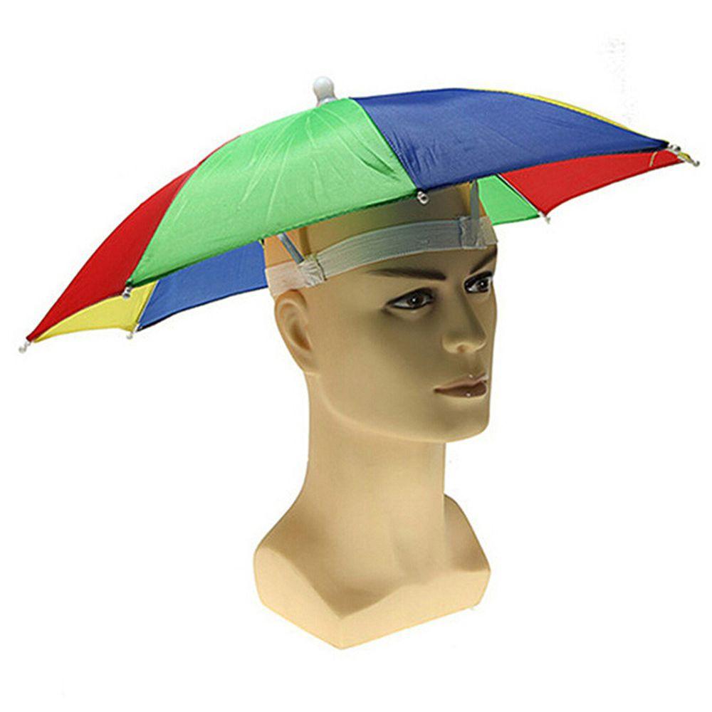 A *DC Head Umbrella Anti-Rain Fishing Anti-Sun Umbrella Hat Adults Supplies