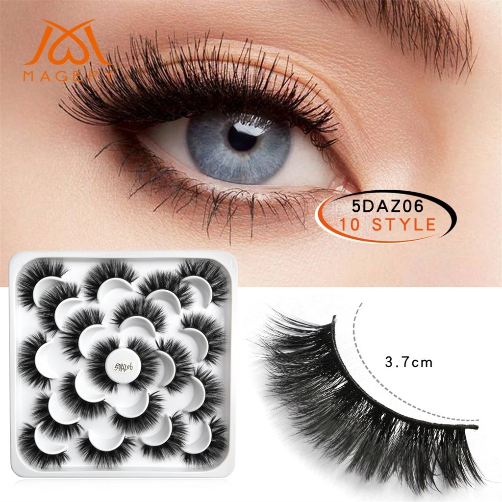 48b14825a46 ProductImage. ProductImage. 10 Pairs Of Lotuses With 5D Mink False Eyelashes  ...