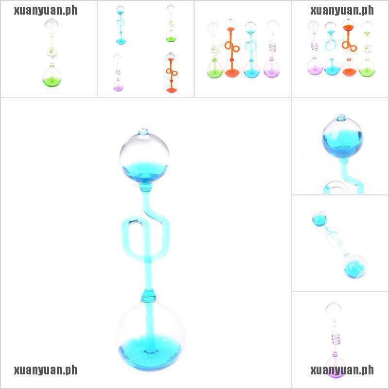 Spiral Love Meter Hand Boiler Glass Science Toy Energy Transfer Cute Gift