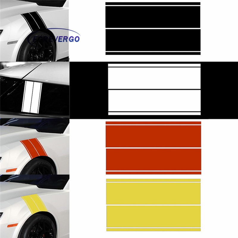 Fender hash Stripe Racing Graphic Decal Sticker Car Truck or SUV RED