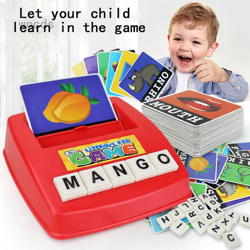 English Spelling Alphabet Letter Game Montessori Early Educational Toy