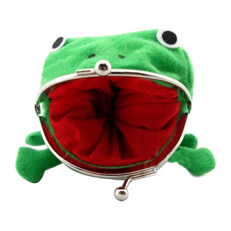 Durable Novelty Cartoon Naruto Frog Coin Bag Purse Cosplay Plush Wallet Gift