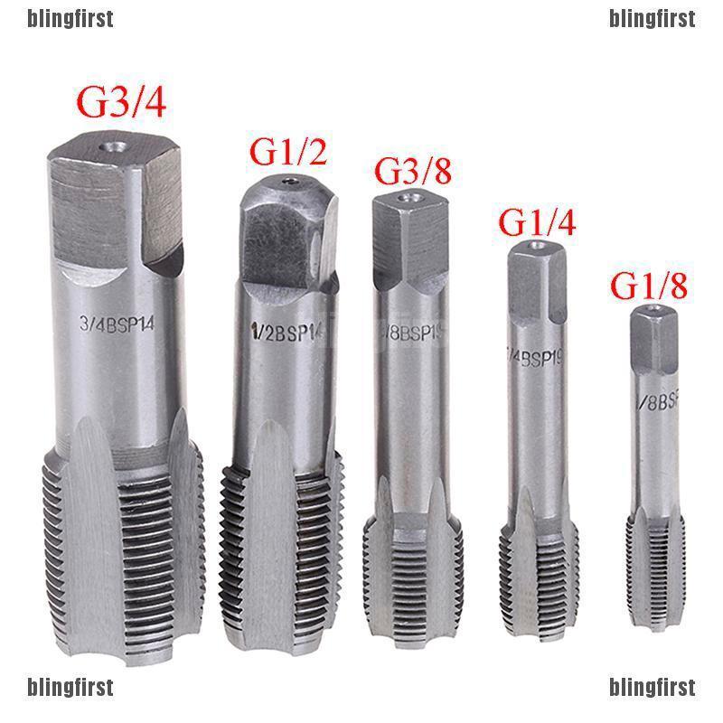 Hand Tap Taper Silver HSS for Machine 1//2 BSP Pipe Thread Drill Bit Kit