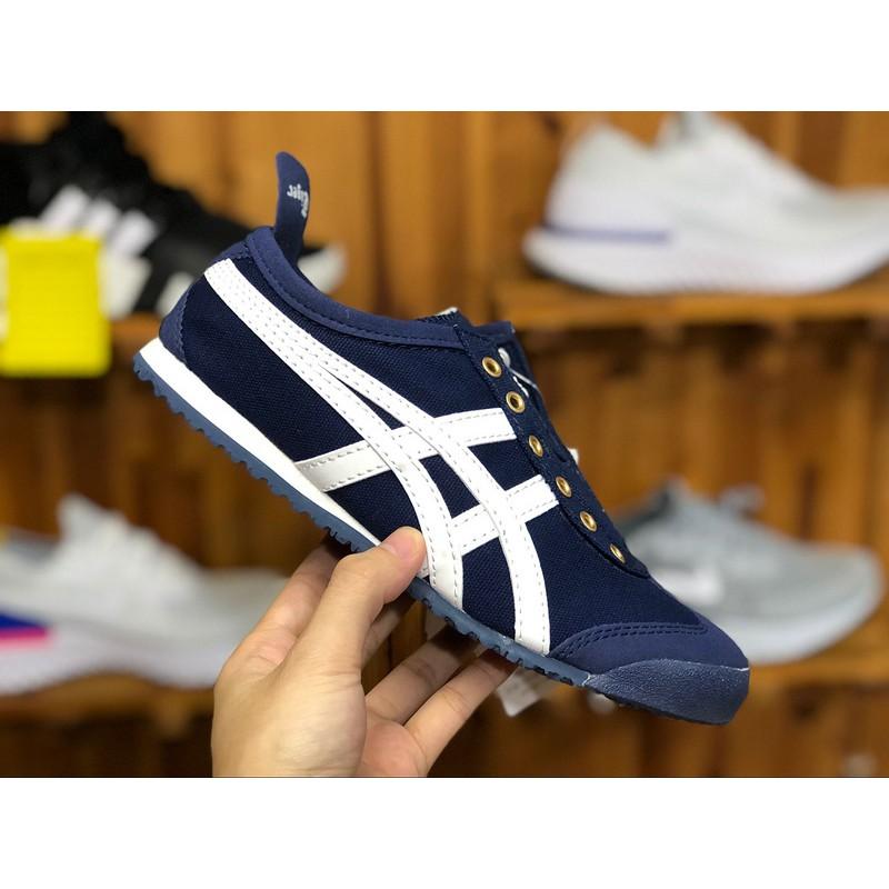 sale retailer 63ea5 96a99 Onitsuka Tiger Canvas Shoes Navy Blue
