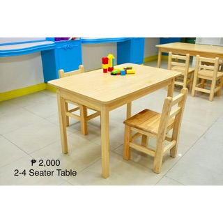 9fb1d4865a3 Wooden Kids Table (2-4 Seater) and Chair | Shopee Philippines
