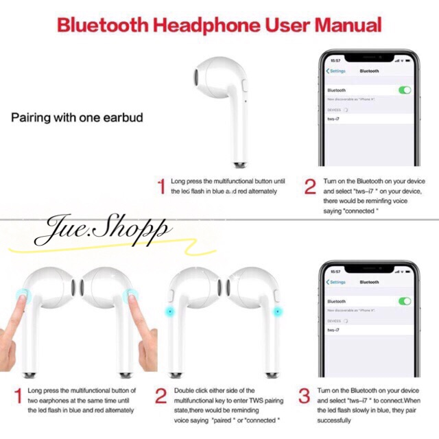 i7S TWS Wireless Bluetooth headset earphones Earbuds