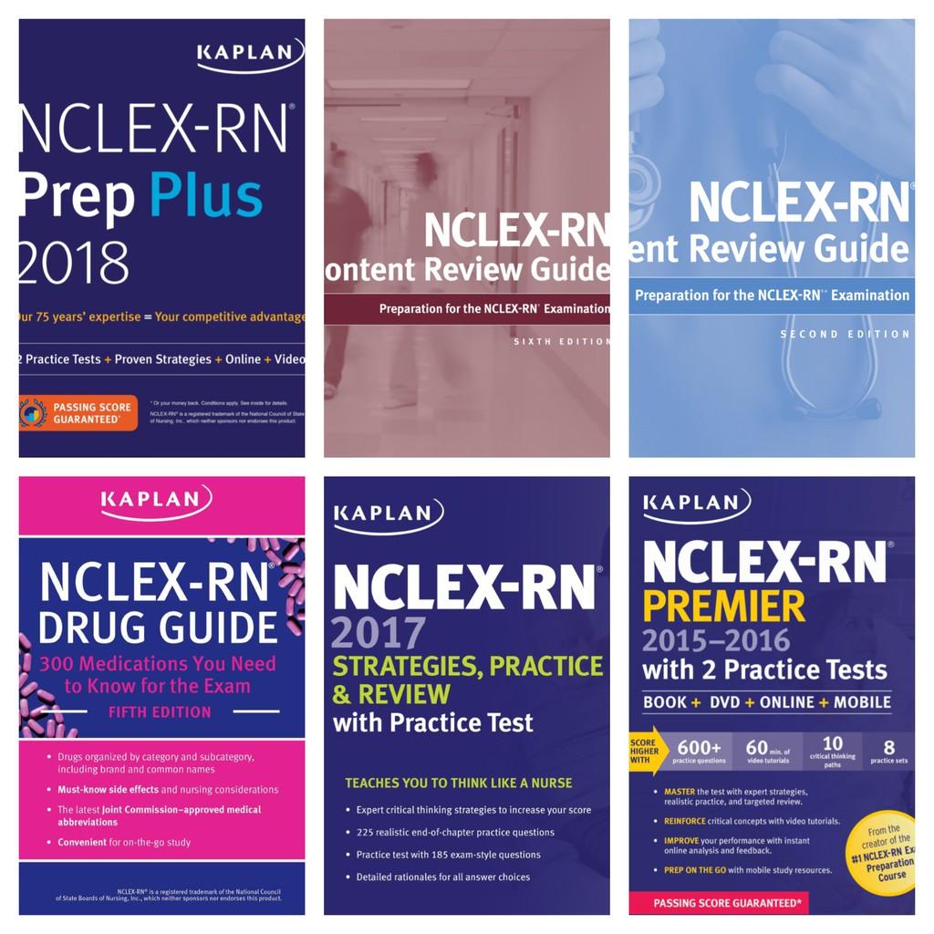 Kaplan NCLEX Reviewer Set 2018