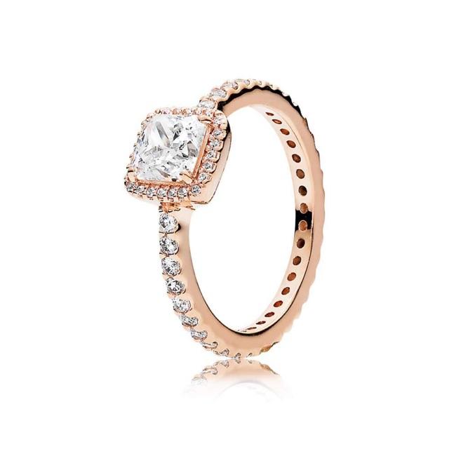 260e76014c19c Pandora Ring Timeless Elegance Rose gold Ring 925 silver