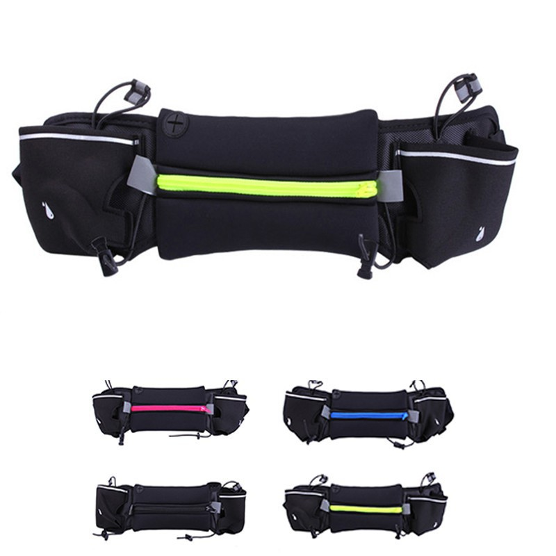 9cabf84a65dc Hydration Running Belt Fanny Waist Pack Sports Fitness Bag with 2 Water  Bottles