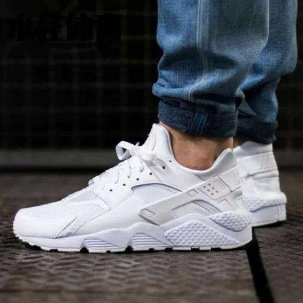 white huarache shoes
