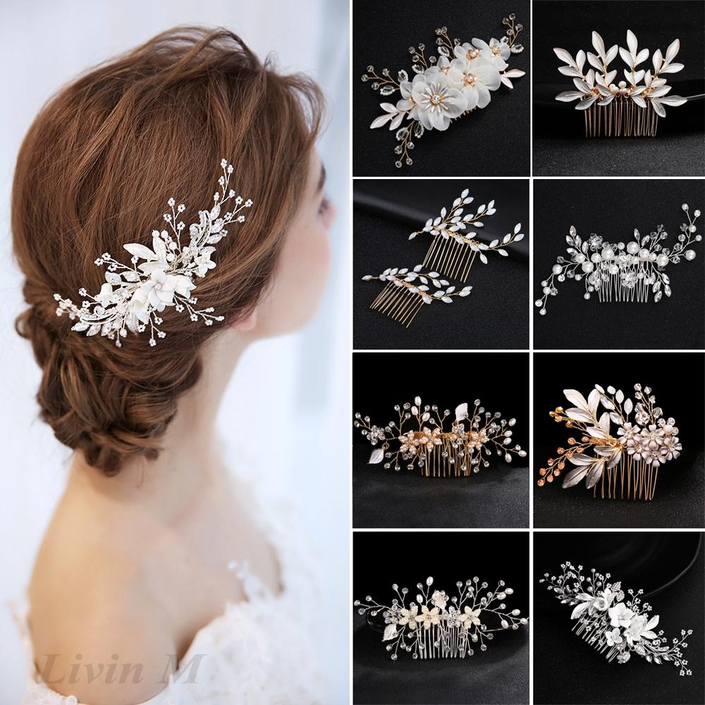 Floral hair pin Set of three #161 Silver wedding Hairpin Bridal hair accessory wedding hair pins White flower hair pin