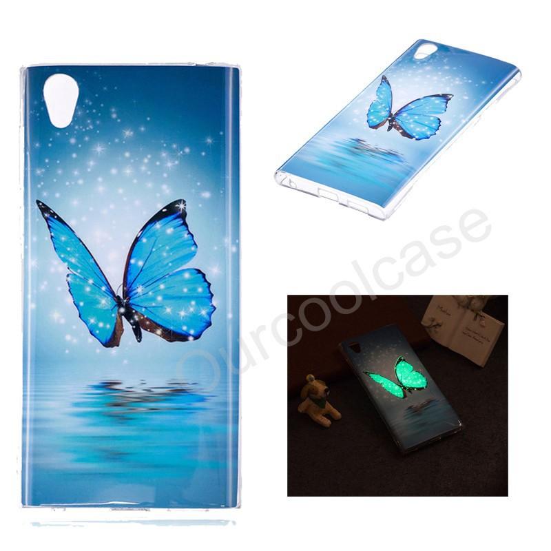 Sony Xperia L1 Soft TPU Cover Glow In The Dark LCartoon Case