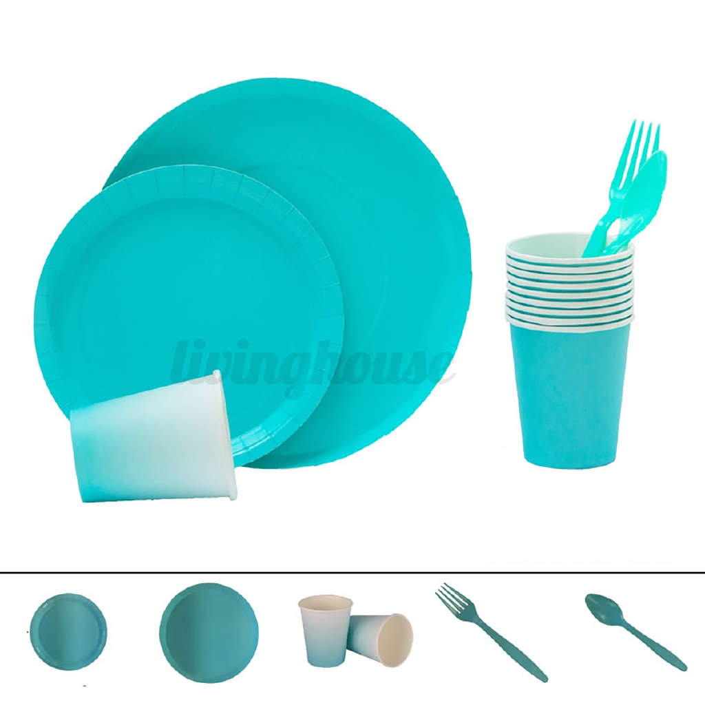 GREEN PAPER PLATES Pack of 100-23cm Birthday Party Picnic Catering Tableware