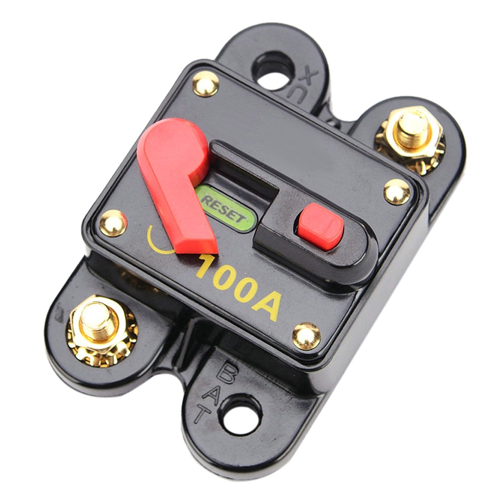 100AMP Auto Car Circuit Breaker 12V 24V With Manual Reset Switch Waterproof