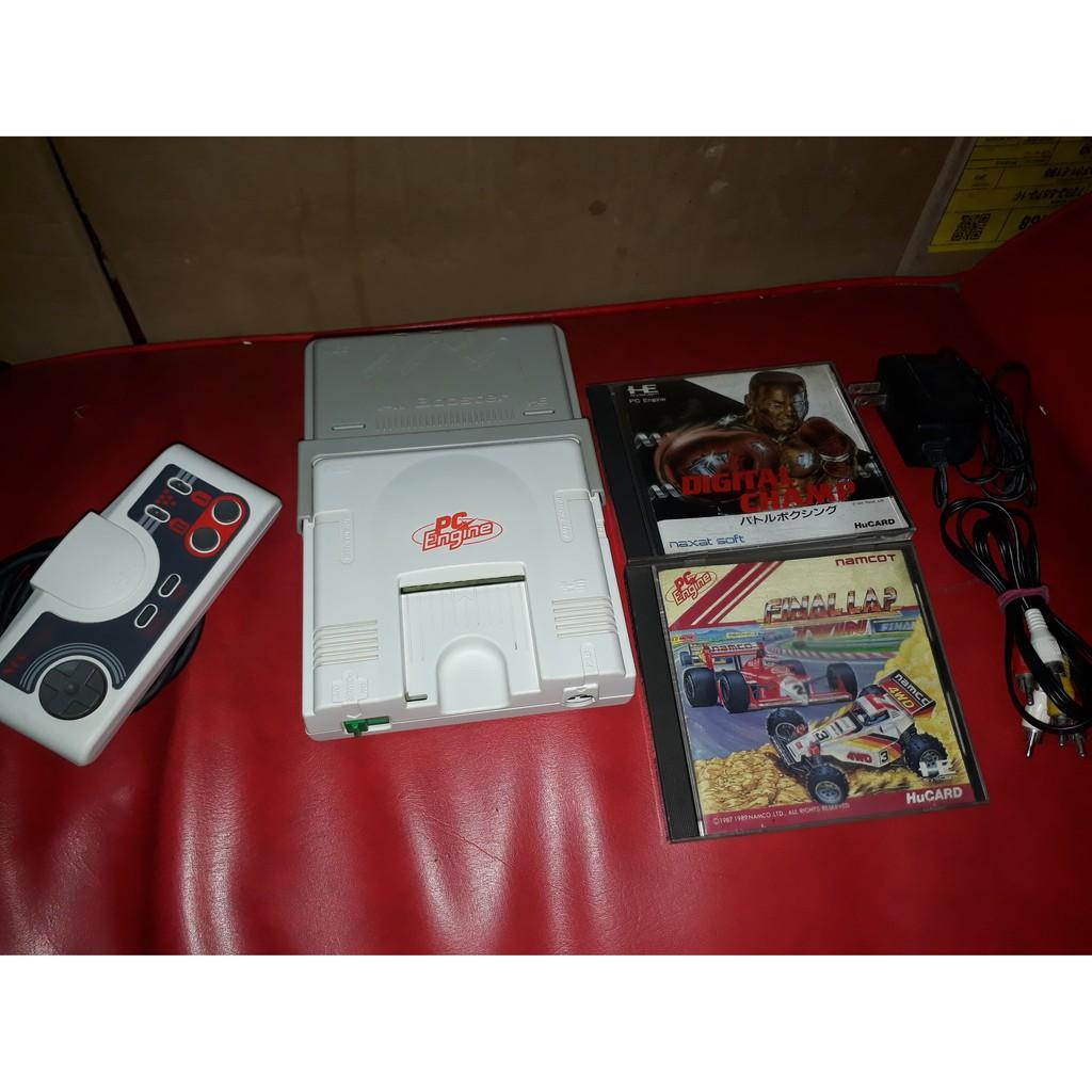 NEC PC Engine white Console,Pad,AV Booster,Game set