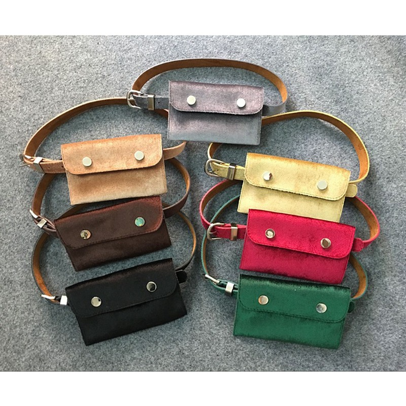 ae75278e5d46 Fashion Waist Fanny Pack Belt Bag Pouch Travel Hip Bum Bags Women Velvet  Purses