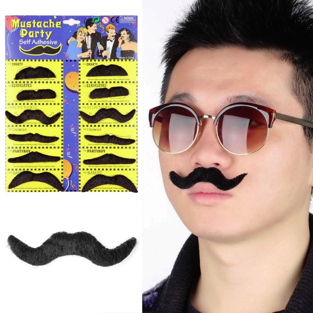 Men's Eyewear Frames Capable Funny Mustache Design Sunglasses Creative Holiday Cosplay Costume Glasses Accessory Without Return