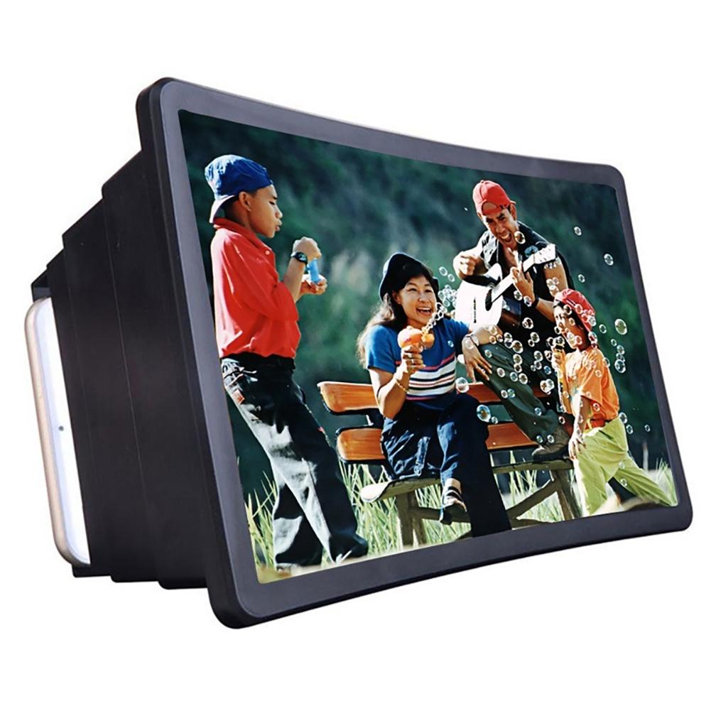 Vintage TV Mobile Phone Smartphone Magnifier Video Amplifier Expander Stand for Video TV Show Black