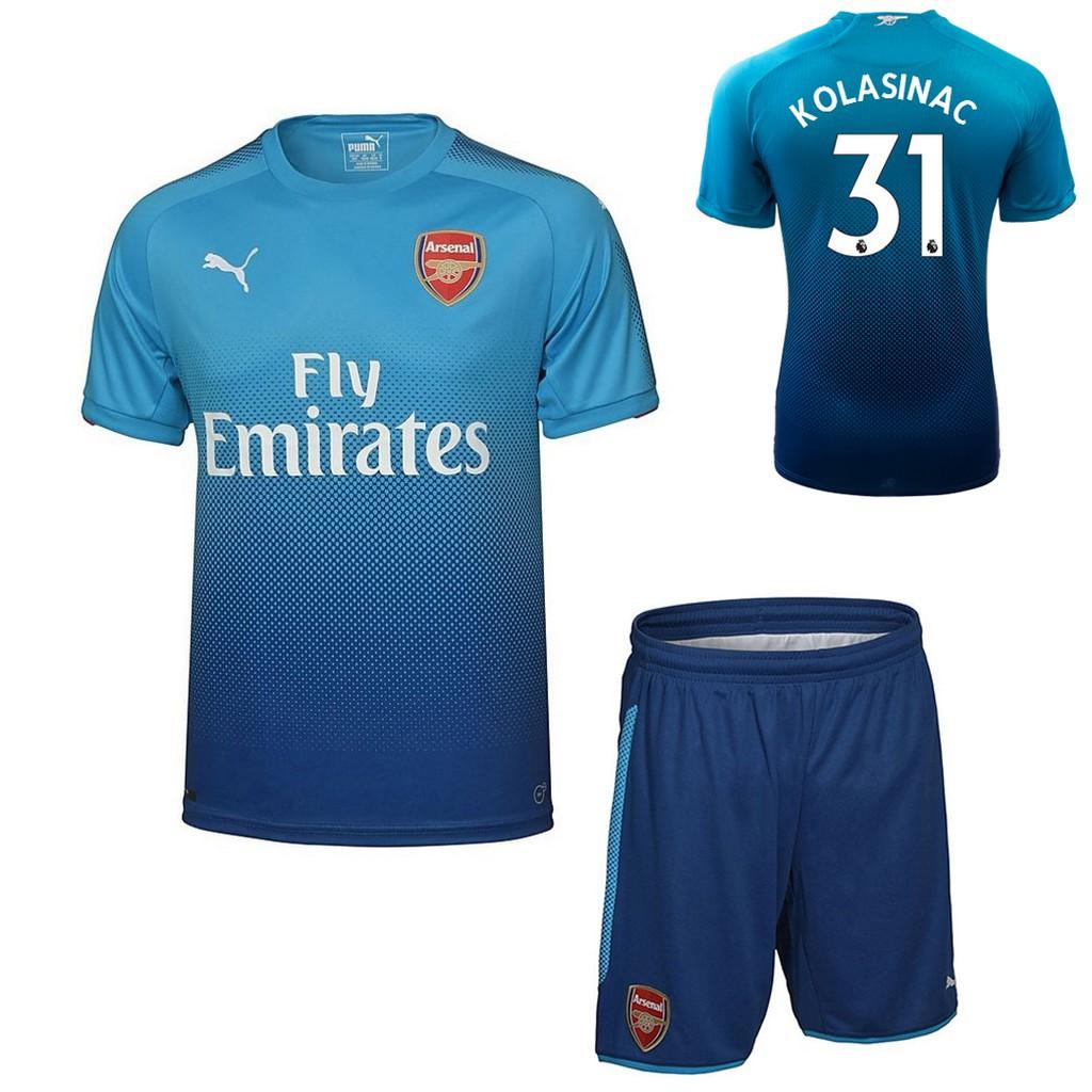 cheap for discount b7bf6 1c557 17/18 Arsenal FC KOLASINAC away football jersey suits