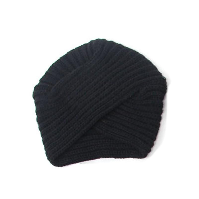 8728a0222d2 Women Beanie Knitted Crochet Headband Hairband Turban Headwrap Cap Hat