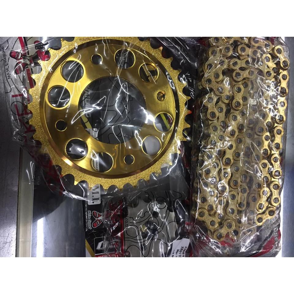 Suzuki Raider J Pro Spec And Price: OSAKI Lucky Gold Chain & Sprocket Set Wave/XRM