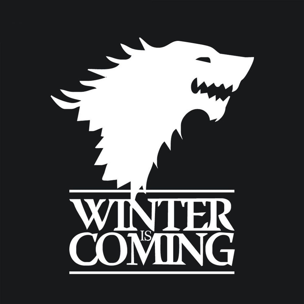 Game Of Thrones Stark Wolf Winter Is Coming Car Stickers
