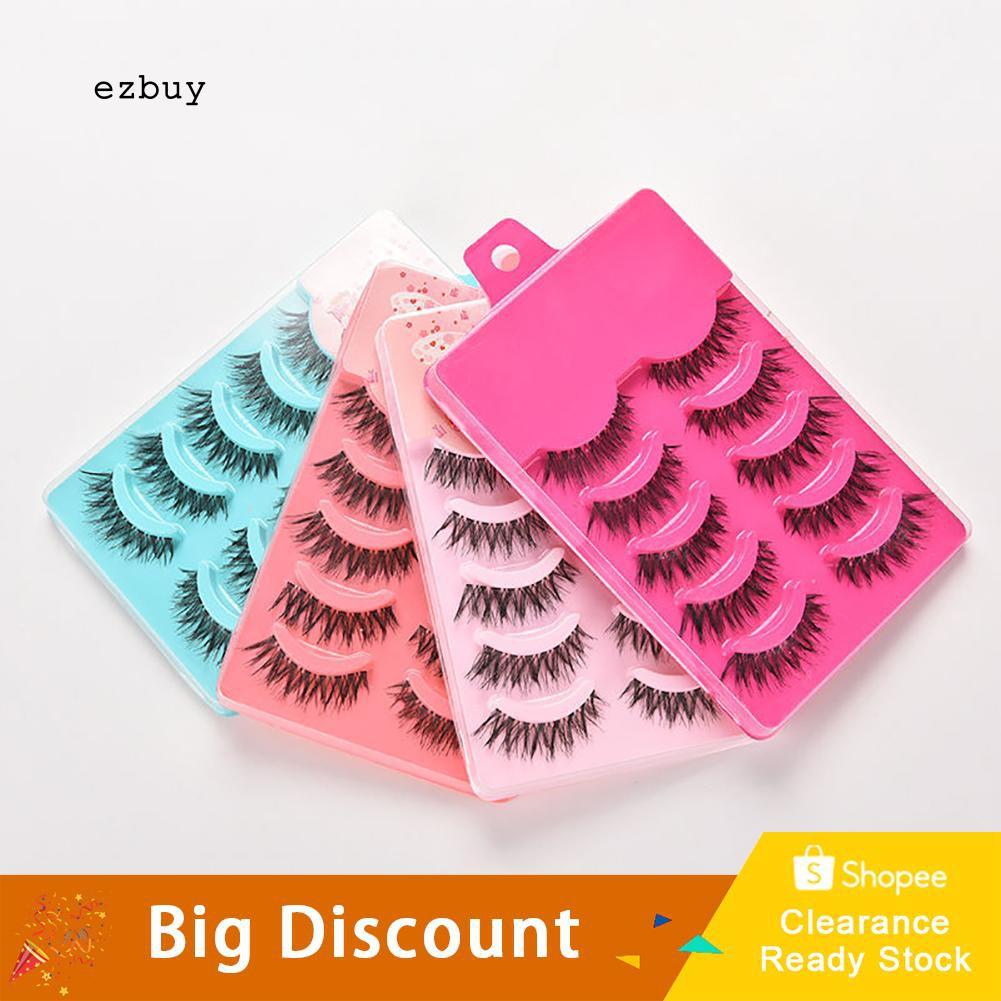 b766289b37e ProductImage. ProductImage. 【Ready Stock】5 Pairs Makeup Handmade Long Thick Cross  False Eyelashes Eye Lashes Extensions