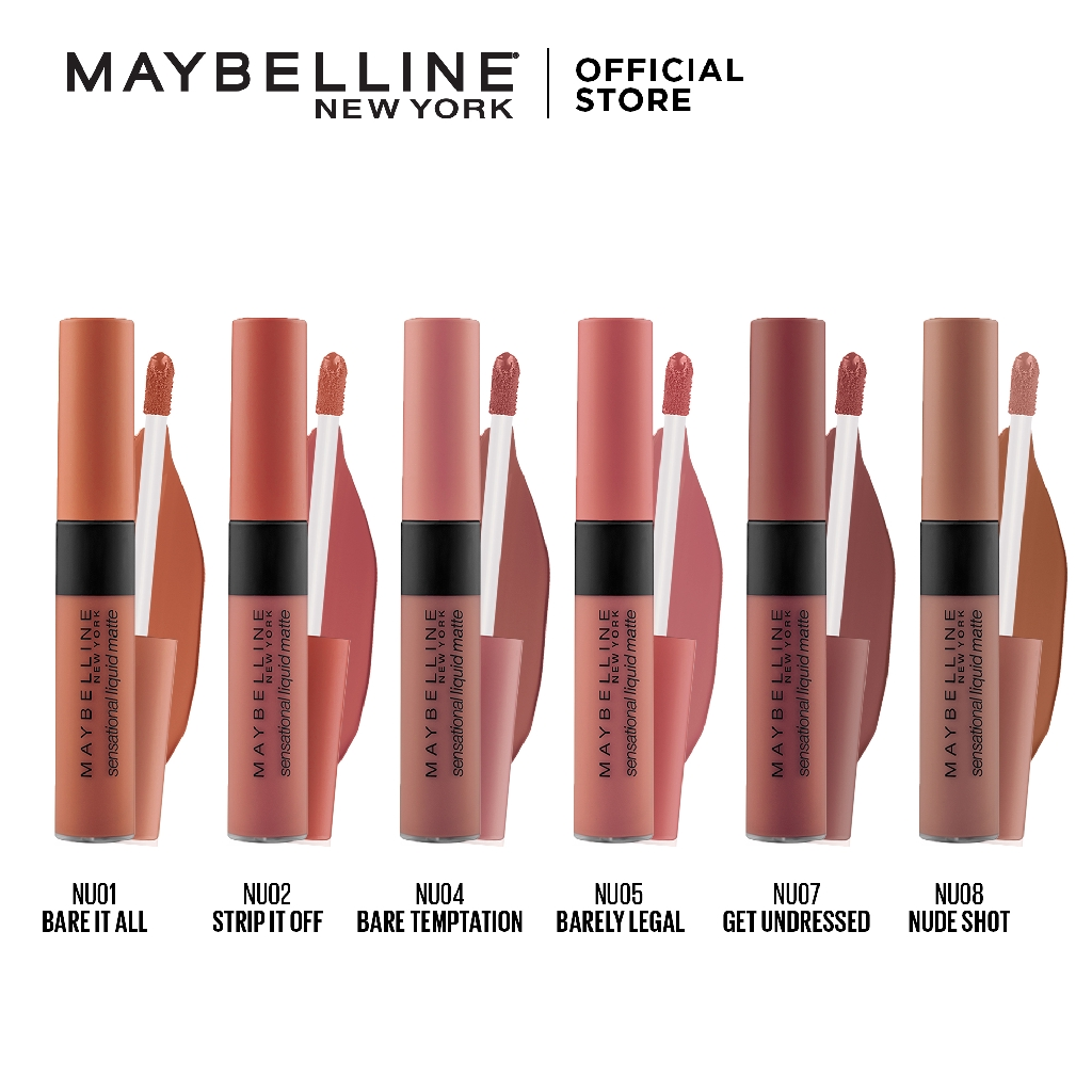 Meybelline Sensational Liquid Matte Lip Tint - The Nudes Collection |  Shopee Philippines