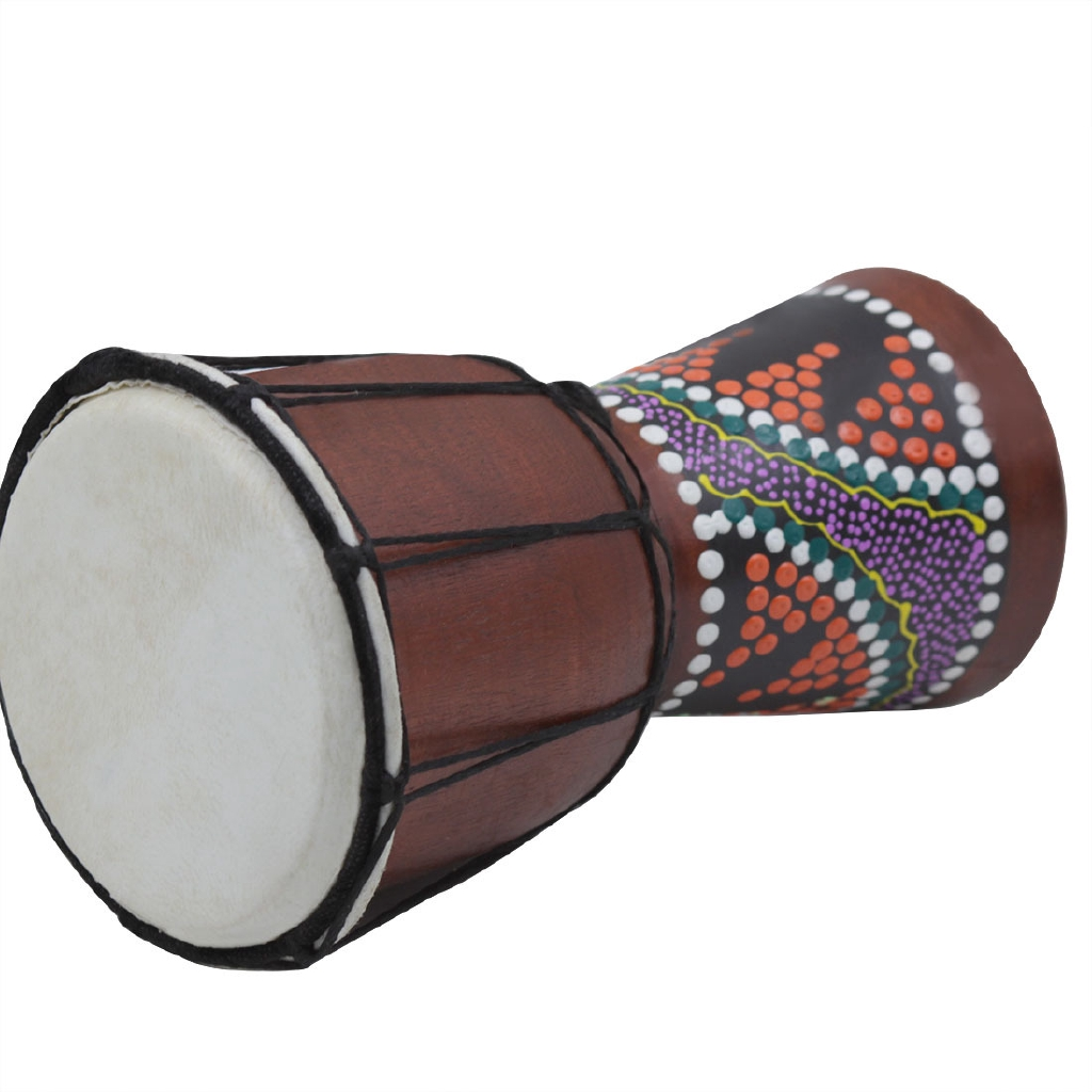 Practical Handmade Wooden Dholak Indian Folk Musical Instrument Indian Drum Tied With Rope Other Musical Instruments