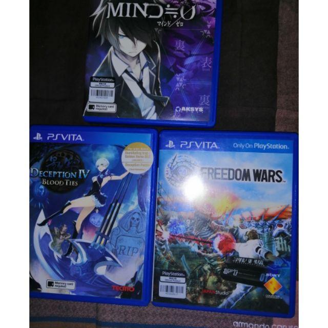 PS Vita Games Mind zero Deception IV