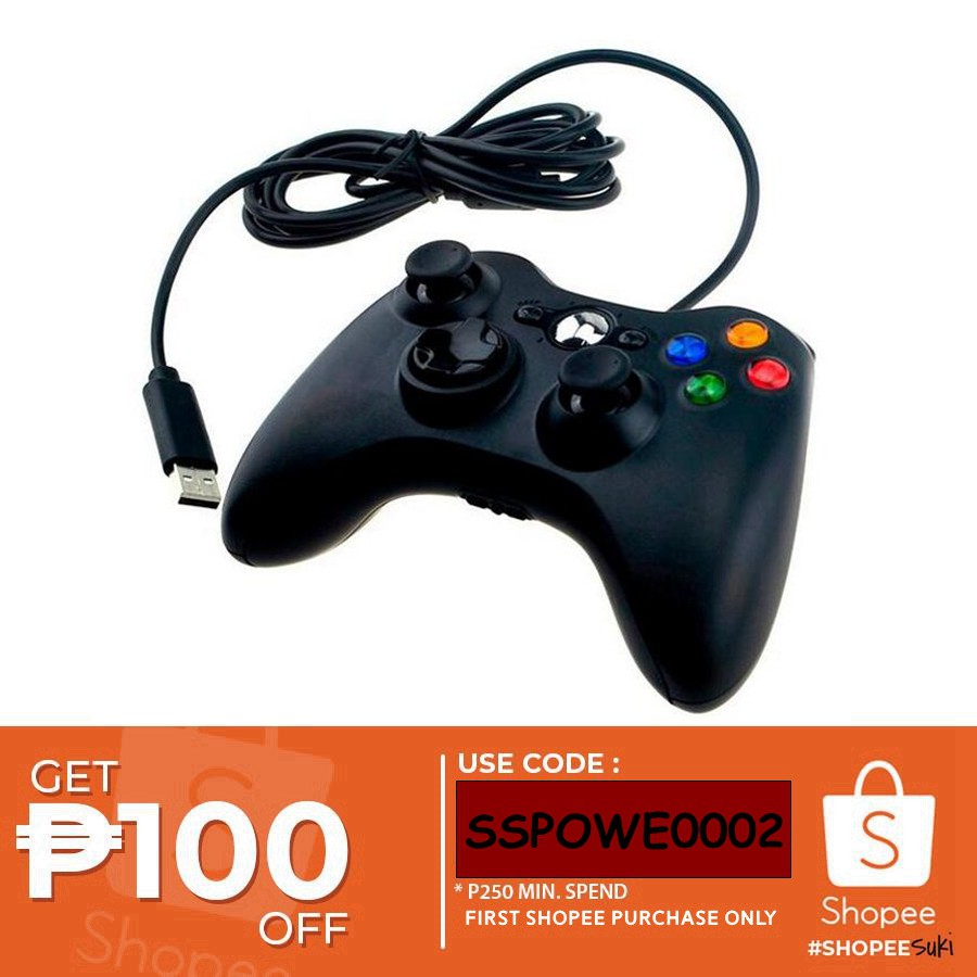 Microsoft Xbox 360 Wired Gaming Controller For Xbox 360 Pc Shopee Philippines