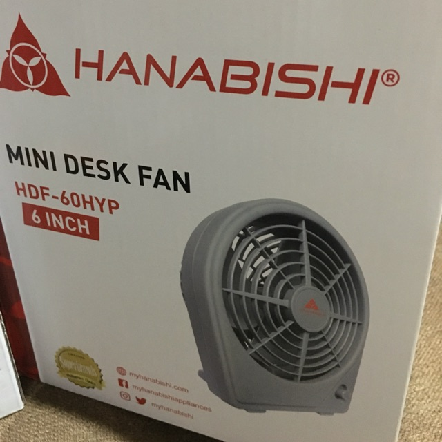 Hanabishi Mini Desk Fan 6 Inches Shopee Philippines