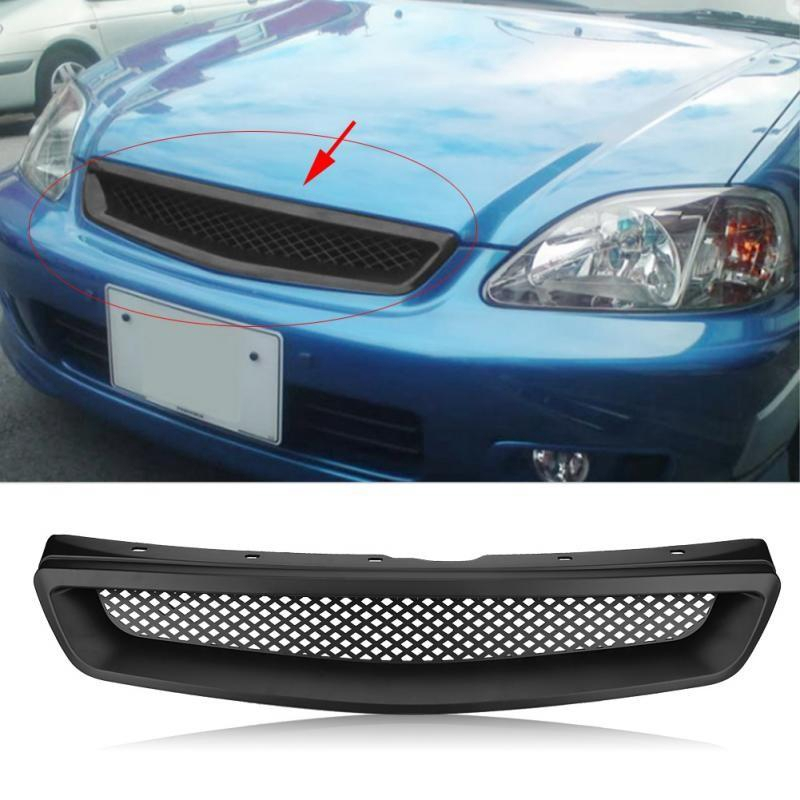 Car GRILL GRILLE FOR 96-98 HONDA CIVIC EK CX DX EX HX LX FRONT HOOD T-R ABS