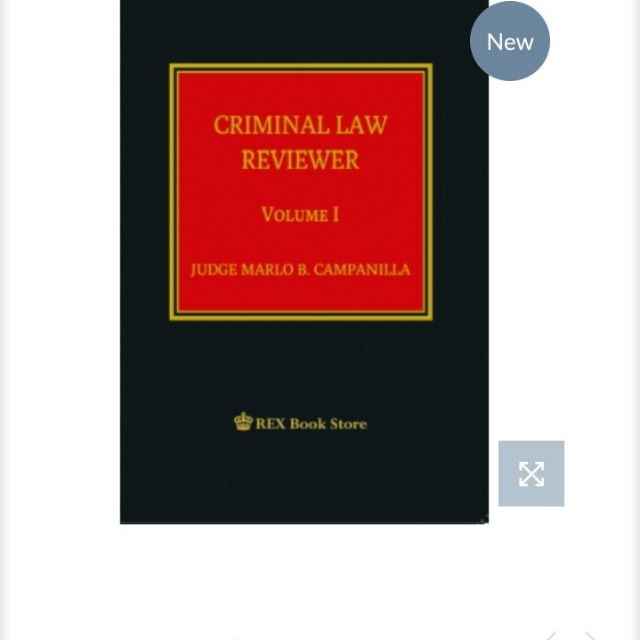 Original CRIMINAL LAW REVIEWER vol 1 by Judge M  Campanilla