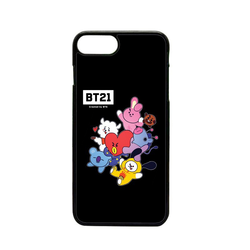 new product e6f91 223bb BT21 by BTS 2D Black Mobile Case for iPhone 5 6 6+ 7 7+