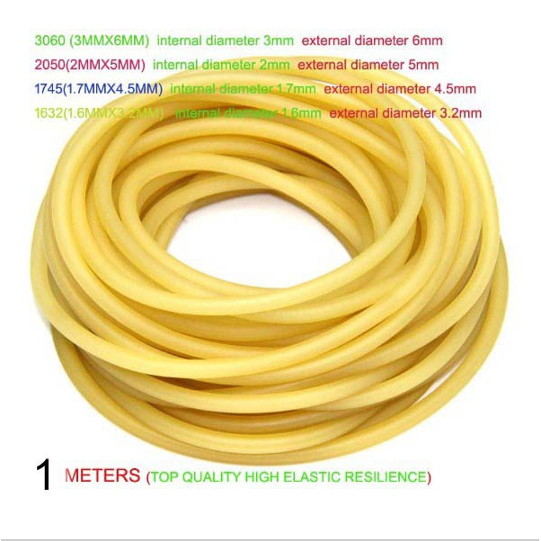 1//2//5x Elastic Bungee Rubber Band for Slingshot Catapult Outdoor Hunting Yellow!