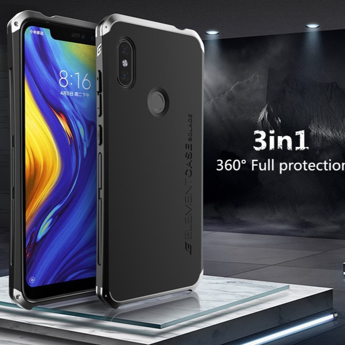 newest 0ee48 3d19a Xiaomi Redmi Note 5 / Note 6 Pro Metal Back Cover Case