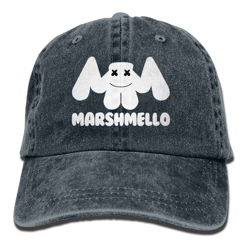 0f3e9243dff Retro Denim Cap Hat Marshmello 2 Adjustable Sports Baseball