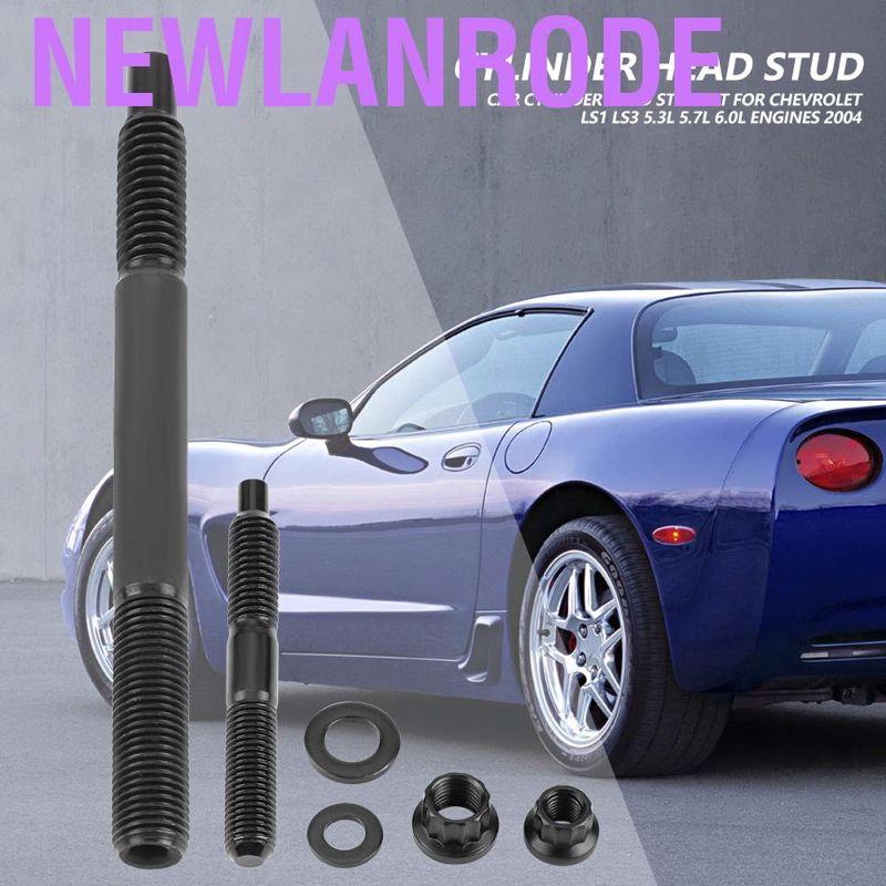 Aramox Car Cylinder Head Stud Kit LS1 LS3 5.3L 5.7L 6.0L Engine for Chevrolet 2004