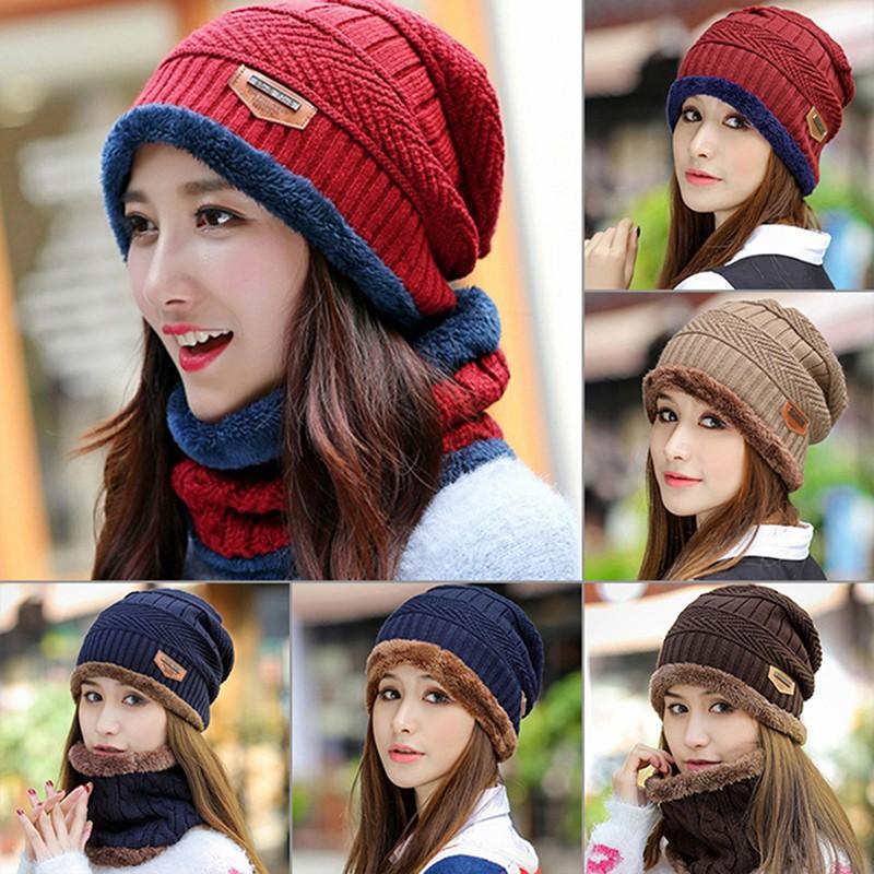 edcbad52e141f1 ProductImage. ProductImage. Men Women Winter Warm Crochet Knit Baggy Beanie  Wool Skull Hat Ski Cap Scar