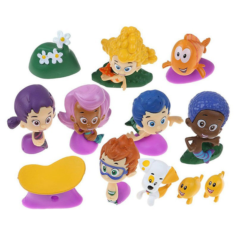 Molly Bubble Guppies Mini Figure Set of 12 w// Gil Bubble Puppy Etc Kids Toys