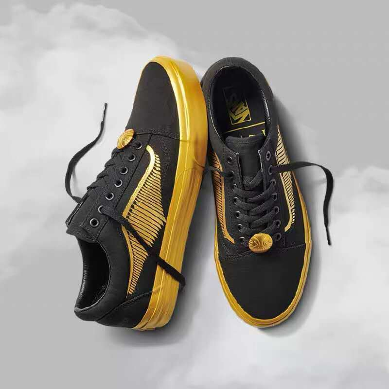 VANS X Harry Potter old Skool GOLDEN SNITCHBLACK gold Sneakers Men's Shoes Original Authentic
