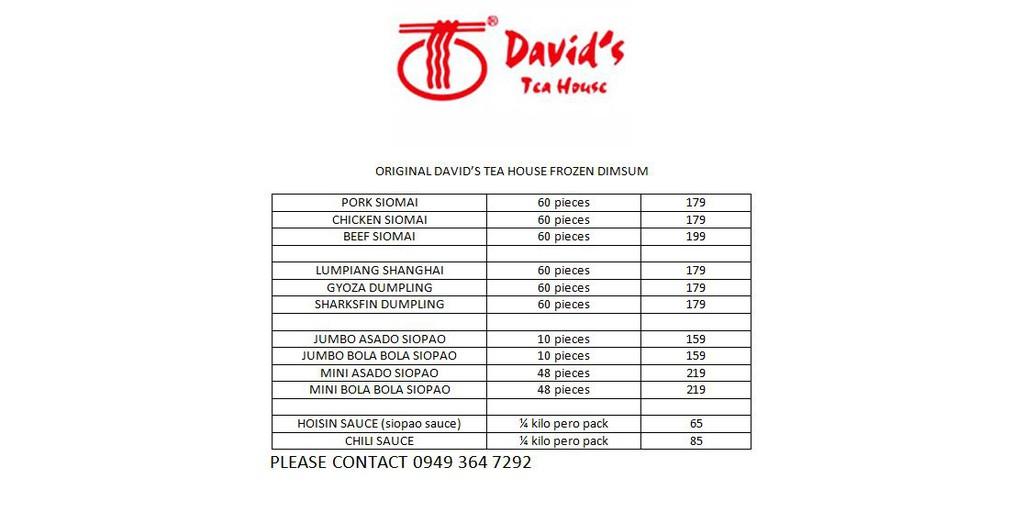 Original Davids Tea House Frozen Dimsum Wholesale Reseller
