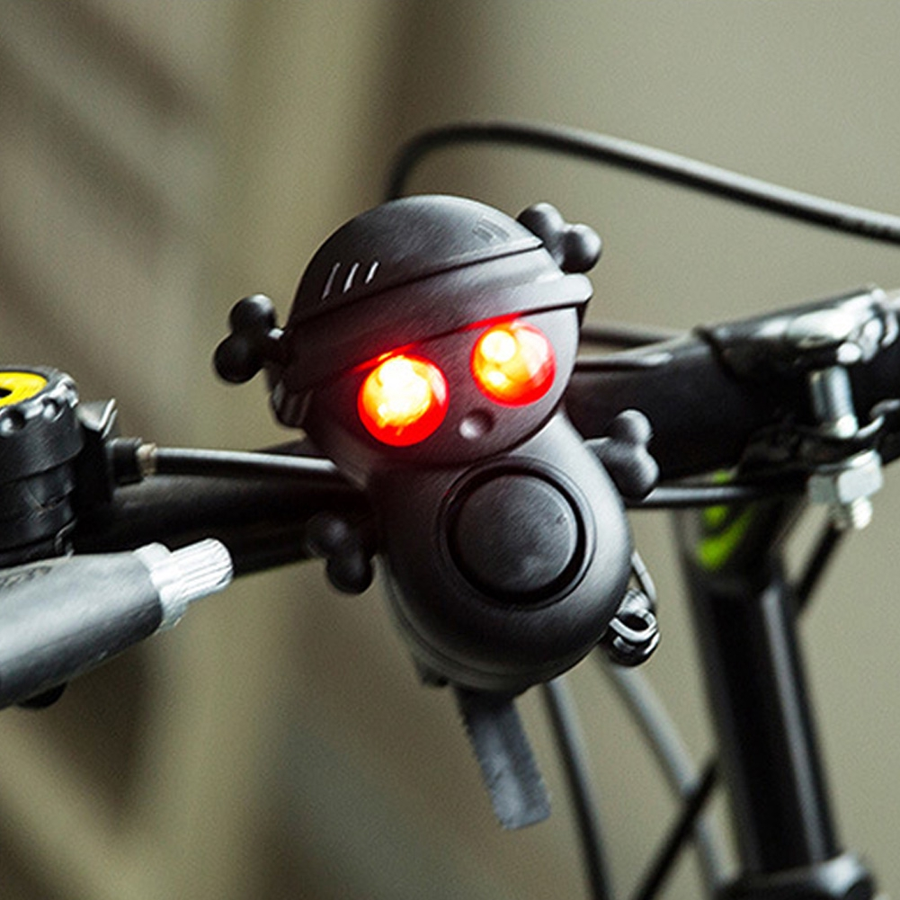 High Quality Bicycle LED Front Light With Bell Horn 3 AAA Battery Power Operated