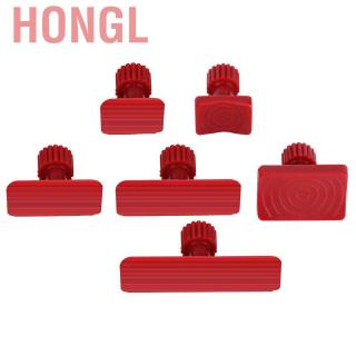 Suuonee Dent Puller Tabs 6Pcs Car Auto Body Dents Removal Pulling Tabs Paintless Dent Repair Tools