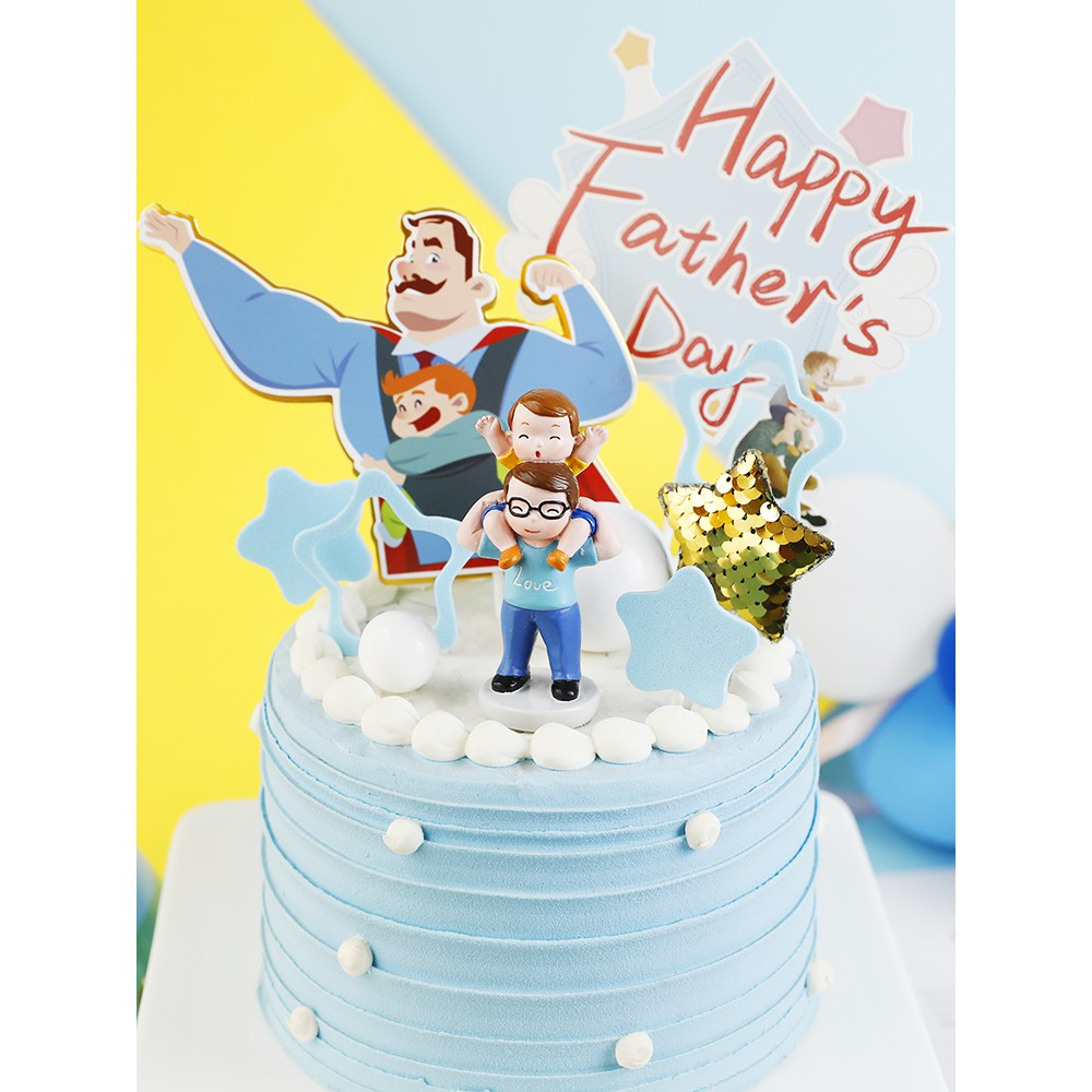Cake Decoration Super Dad Resin For Happy Father S Day Cake Toppers Dad Birthday Cake Dessert Father S Day Party Accessories Shopee Philippines