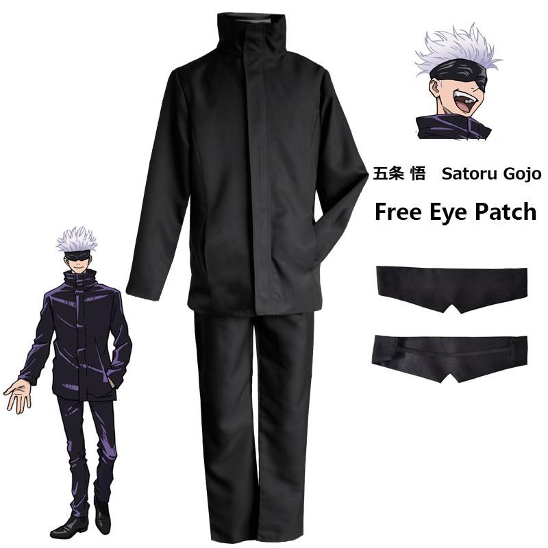Anime Jujutsu Kaisen Cosplay Costume Gojo Satoru Uniform Sets Suit Yuji Itadori Uniform Sets Suit Shopee Philippines