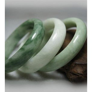 Fine Natural Beautiful Green Jadeite Jade Bangle Bracelet Handmade